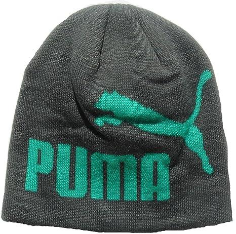 Amazon.com  Puma Unisex Adult Big Logo Beanie Hat (Grey Green ... e9ba039c344b