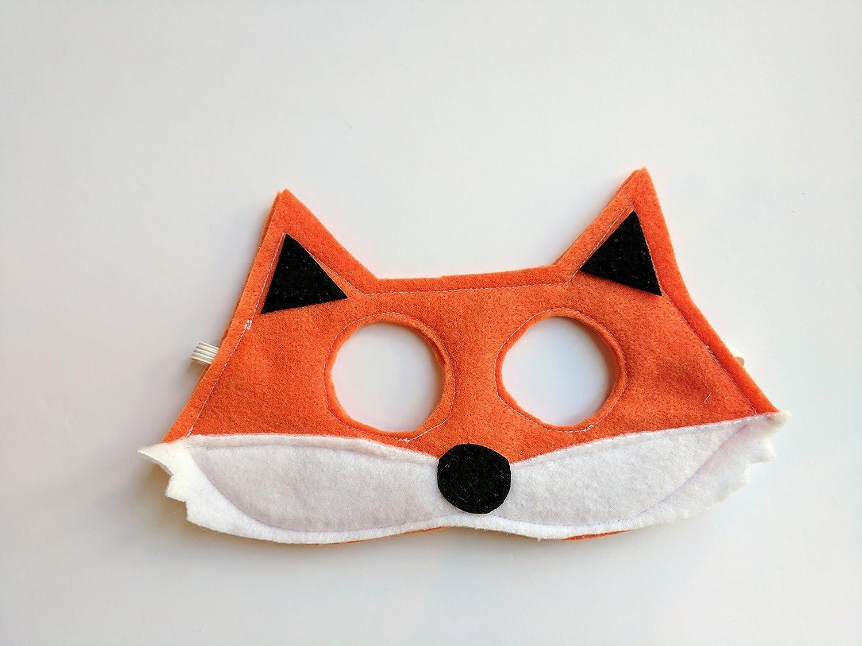 Felt Orange Fox Mask for Kids