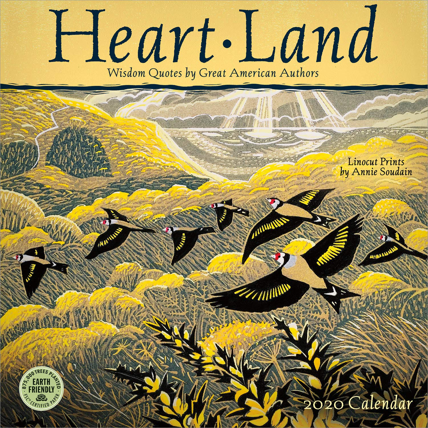 Heart Land 2020 Wall Calendar: Wisdom Quotes by Great American Authors by Amber Lotus Publishing