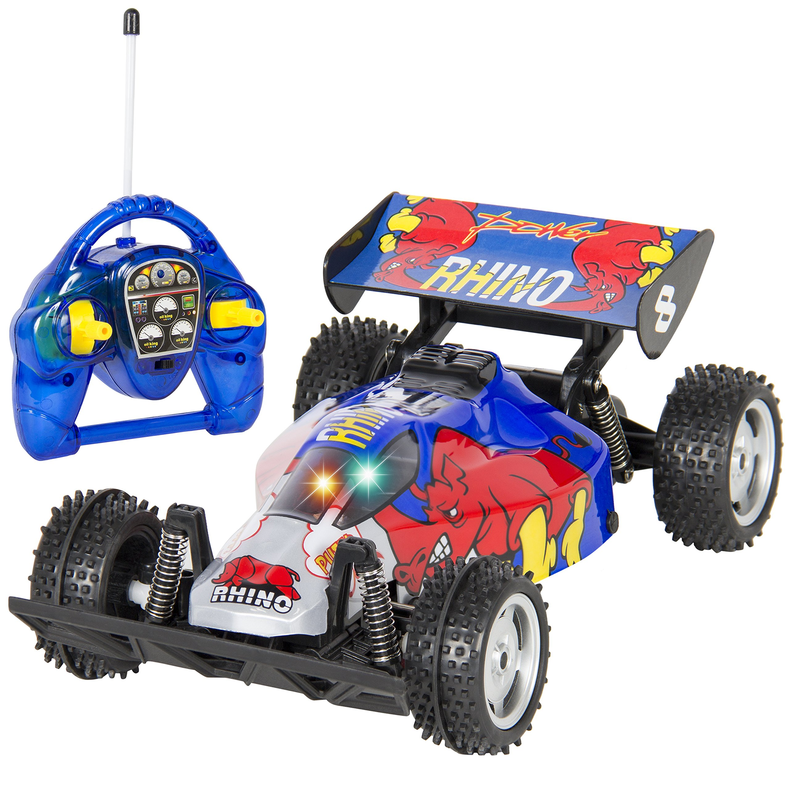 Details about Best Choice Products Blue Rhino RC Remote Control Super Fast  Racing Car Bu