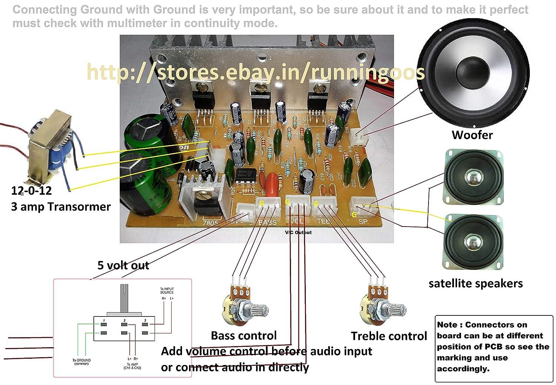 Salcon Electronics 21 Audio Amplifier Board Kit 100 Tda2030 Hi Fi Circuit Electronic Project
