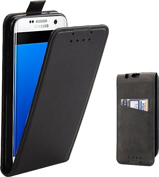 Supad Funda Galaxy S7 Edge, Funda para Samsung Galaxy S7 Edge Flip Case para móvil en Cuero sintético (Negro): Amazon.es: Jardín