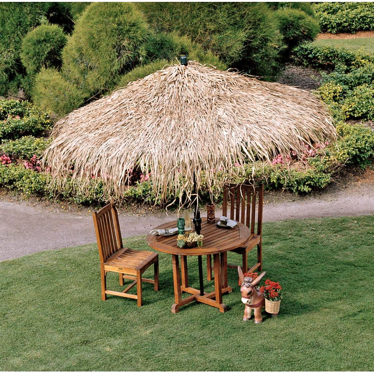 Amazon.com : Design Toscano Tropical Thatch Umbrella Cover : Patio Umbrella  Covers : Garden U0026 Outdoor