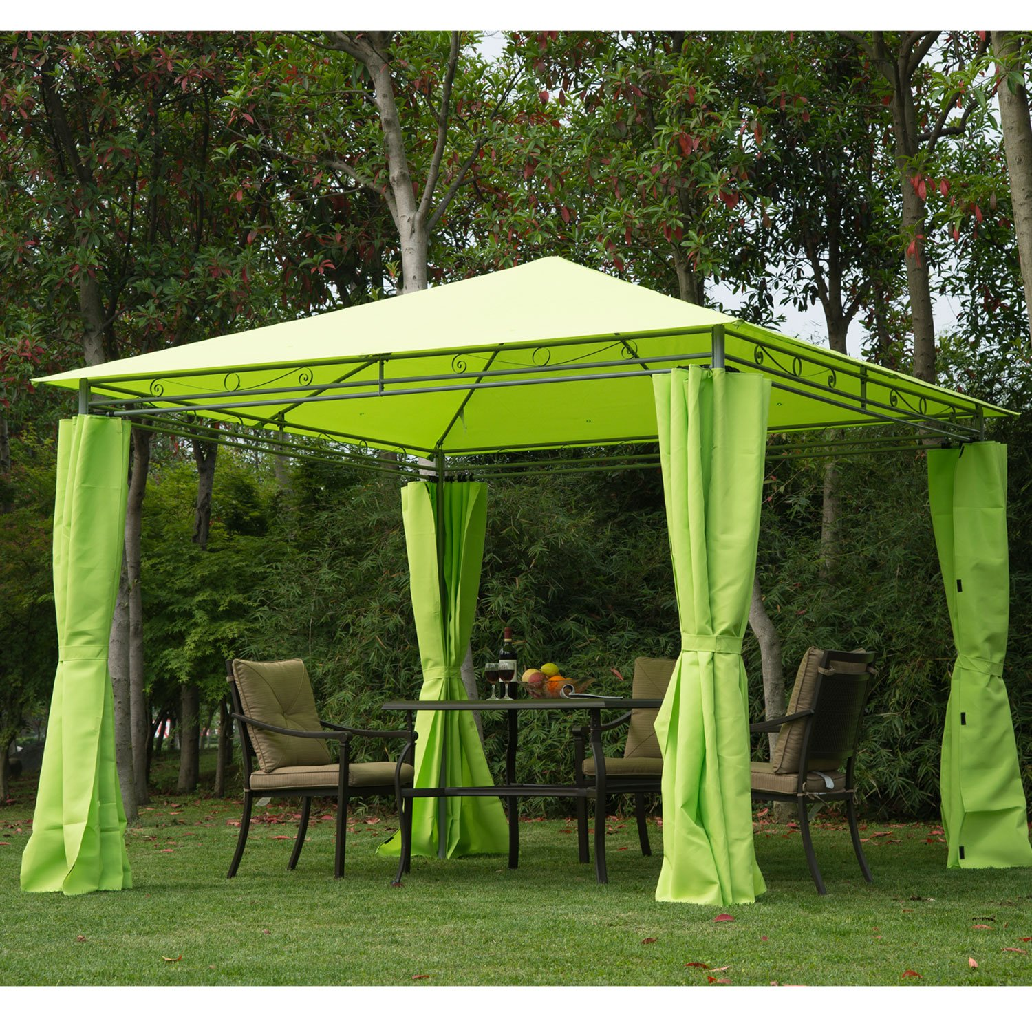 Steel Outdoor Shelters : Outdoor garden metal gazebo marquee patio party tent