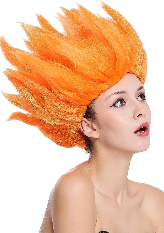 WIG ME UP ® - 91062-PC24 Peluca Hombres Mujeres Carnaval Halloween Cosplay Loki Flor tulipán Fuego Demonio Diablo Naranja: Amazon.es: Juguetes y juegos