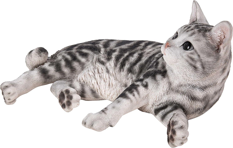 Hi-Line Gift Ltd Lying Down American Shorthair Cat Statue