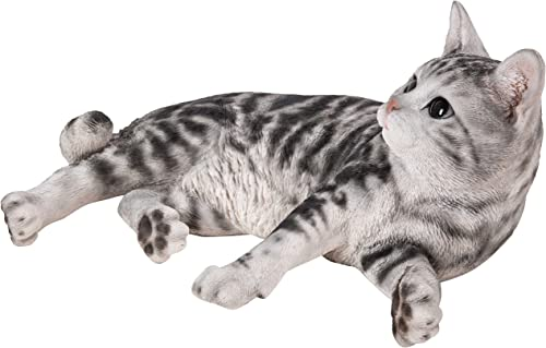 Hi-Line Gift Ltd Lying Down American Shorthair Cat Statue