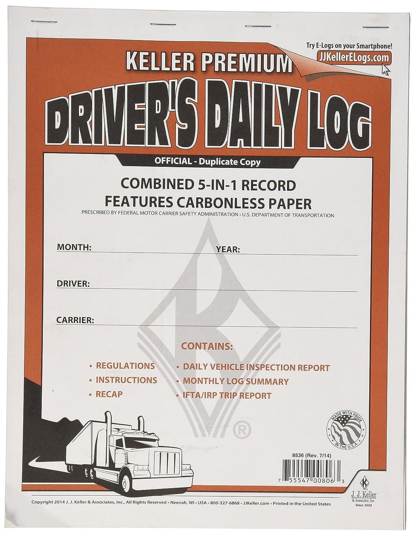 J.J. Keller 8536 5-in-1 Driver's Daily Log Book