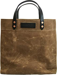 product image for Grocery Tote - Waxed Canvas - Tan - Made in USA