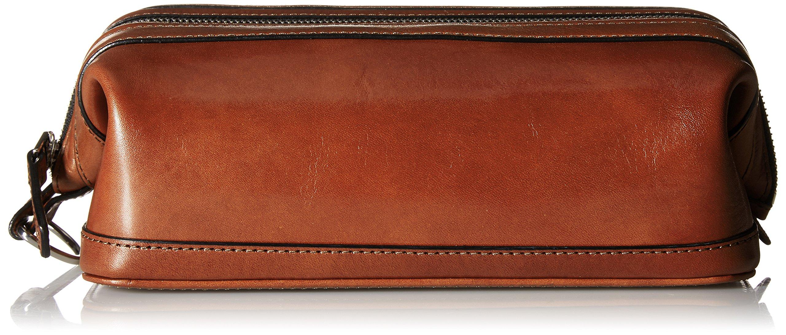 Bosca Old Leather Zipper Utility Kit (Cognac)