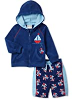 Absorba Boy's Swimsuit Set, Navy/Anchor print, 3-6M