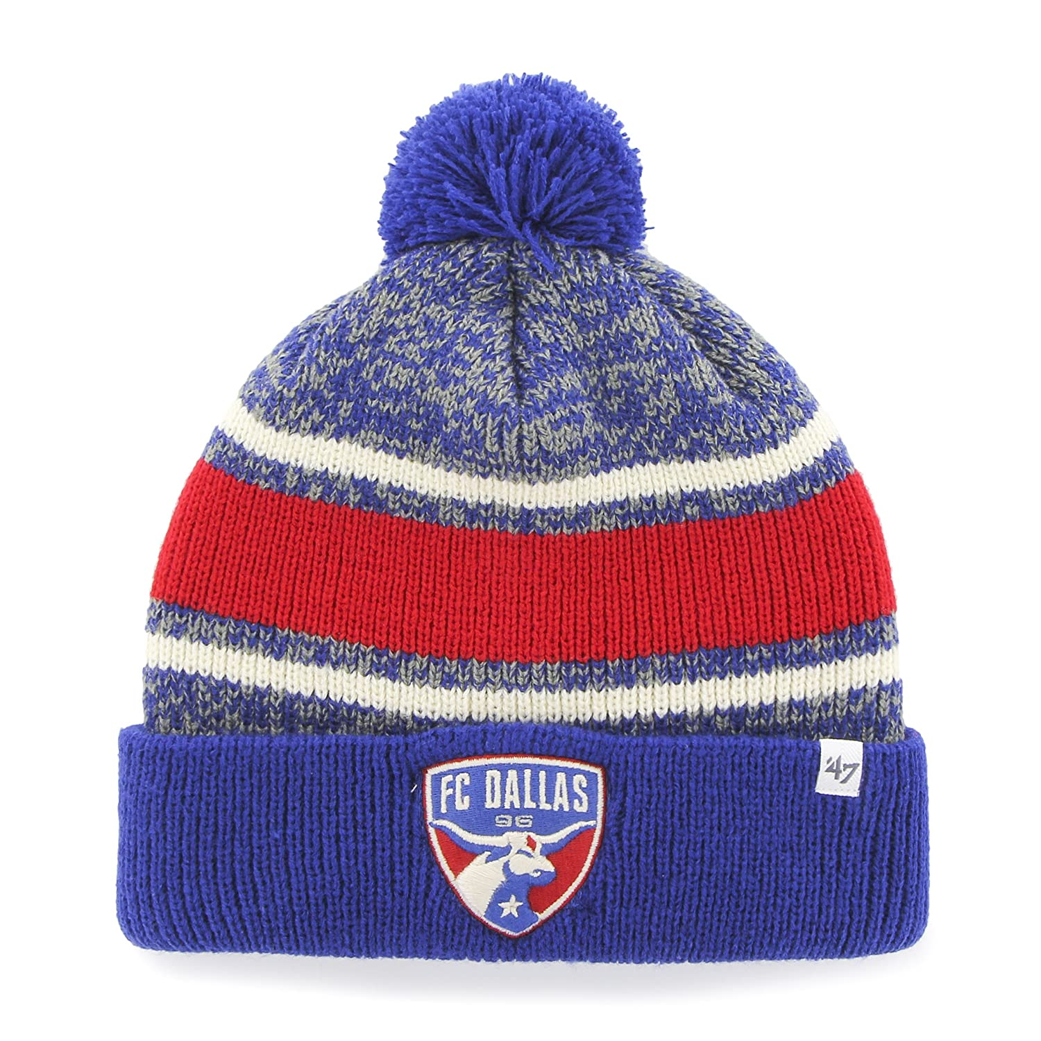 the latest bb586 1ff16 ... dallas red gray soccer beanie e8ef2 5e985  coupon code for amazon mls  real salt lake 47 fairfax cuff knit hat with pom one