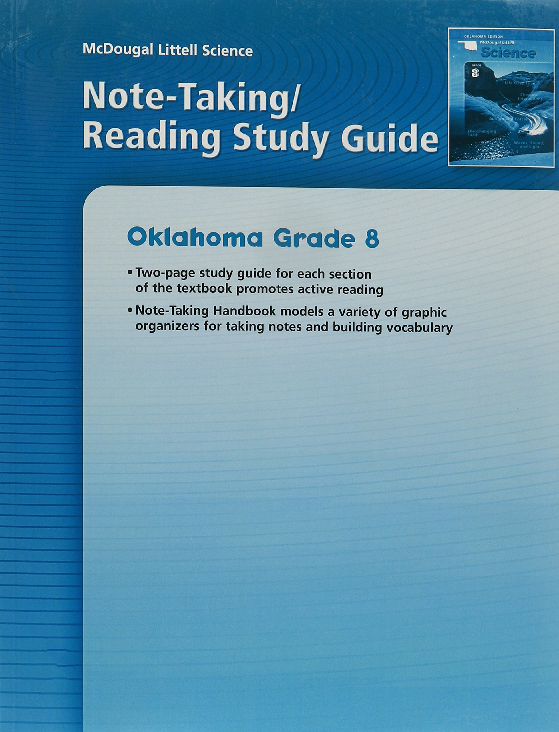 McDougal Littell Science Oklahoma: Note-taking Reading Study Guide Grade 8 Physical Science pdf epub