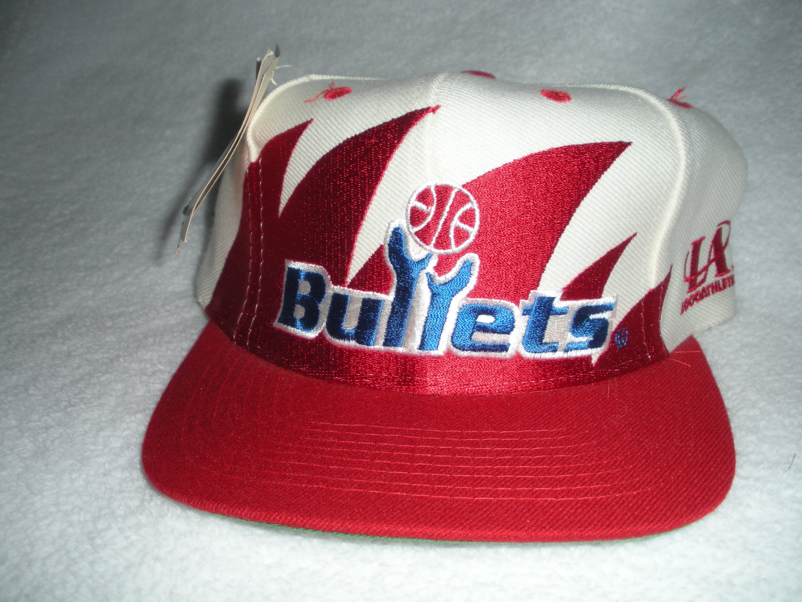 Washington Bullets Vintage Sharktooth Snapback Hat by Logo Athletic