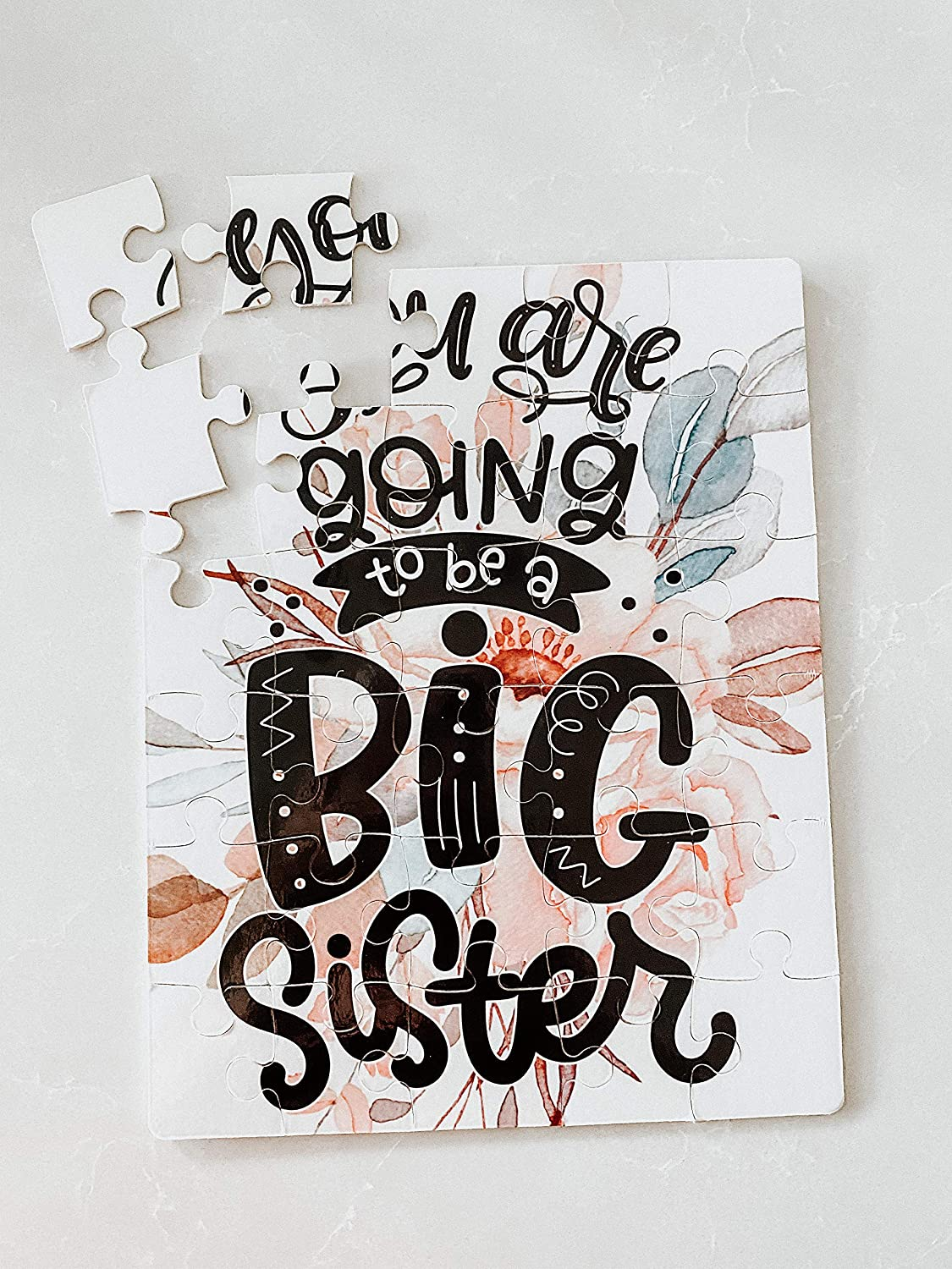 Big Sister Announcement Puzzle Surprise For Daughter Baby Reveal