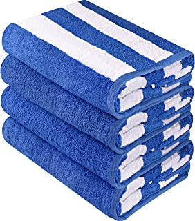Utopia Towels Cabana Stripe Beach Towels (4 Pack, 30 x 60 Inches) -