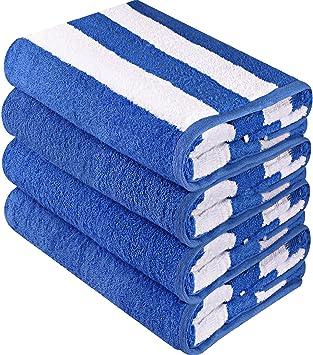 Utopia Towels - Toallas de playa Cabana de calidad superior - Paquete de 4 toallas de