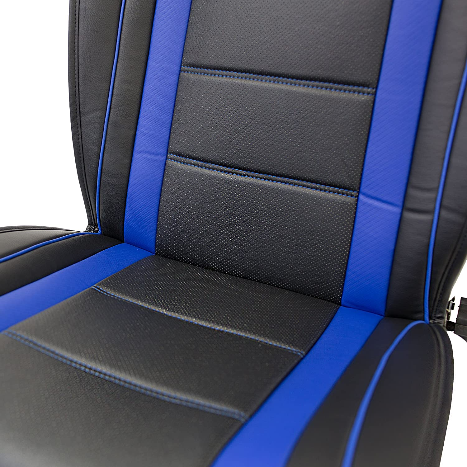 Airbag Compatible FH Group PU205SOLIDBLACK102 Solid Black Ultra Comfort Leatherette Front Seat Cushion
