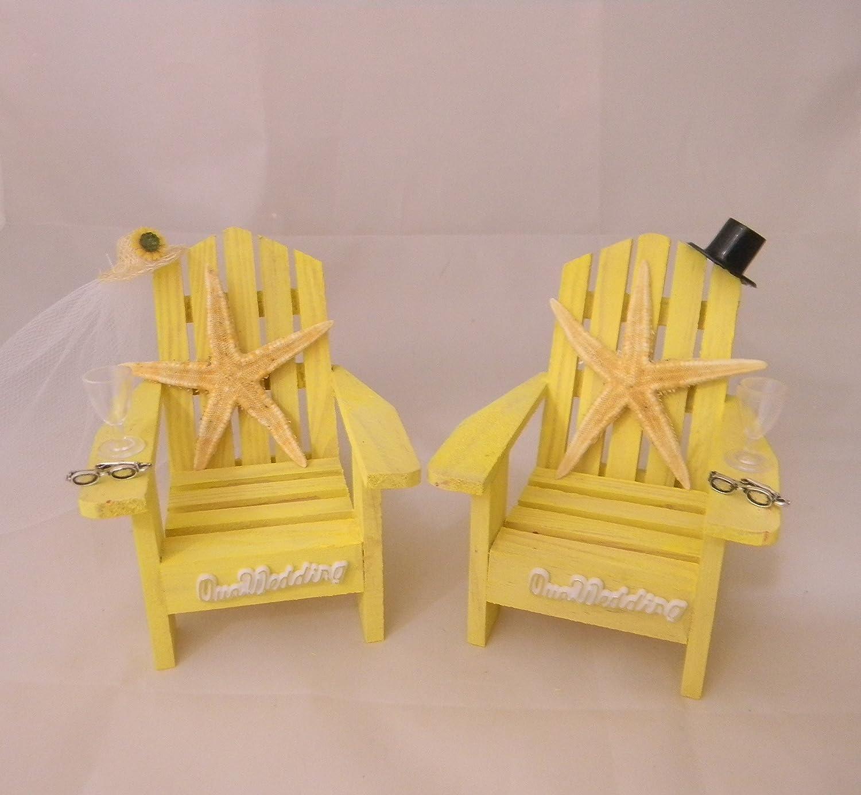 Amazon.com: Wedding Reception Adirondack Chairs Beach Real Starfish ...