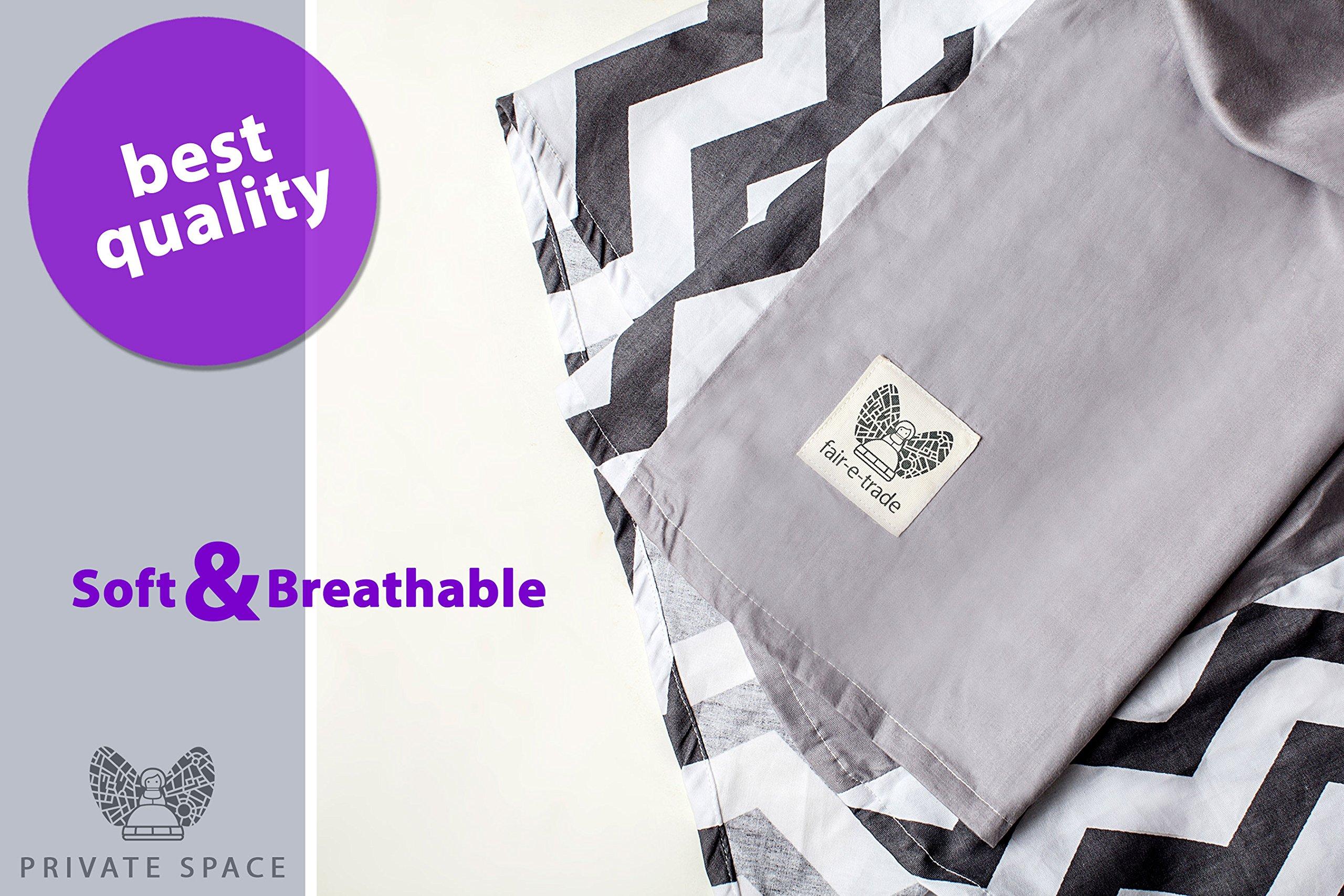 Fair-e-Trade Poncho Rigid Neckline Nursing Cover, 100% Premium Breathable Cotton by Fair-e-Trade (Image #7)