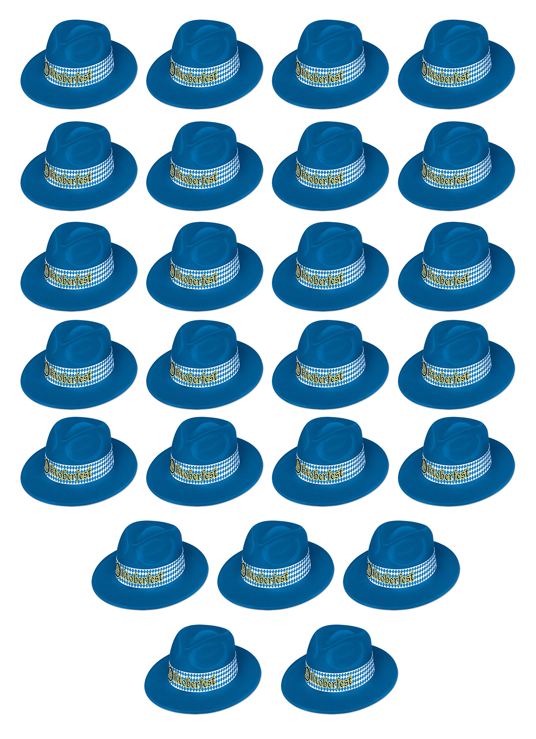 Beistle 60881-25 25 Piece Oktoberfest Fedora, Multicolor by Beistle