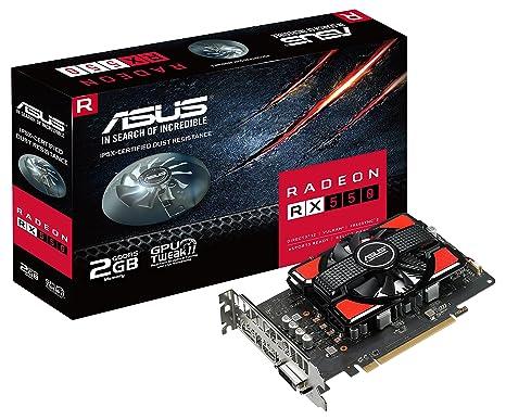 ASUS RX550-2G Radeon RX 550 2GB GDDR5 - Tarjeta gráfica (AMD ...
