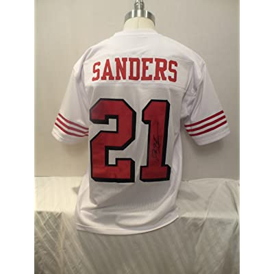 new style 6d523 9ea56 Deion Sanders Signed San Francisco 49ers White Autographed ...