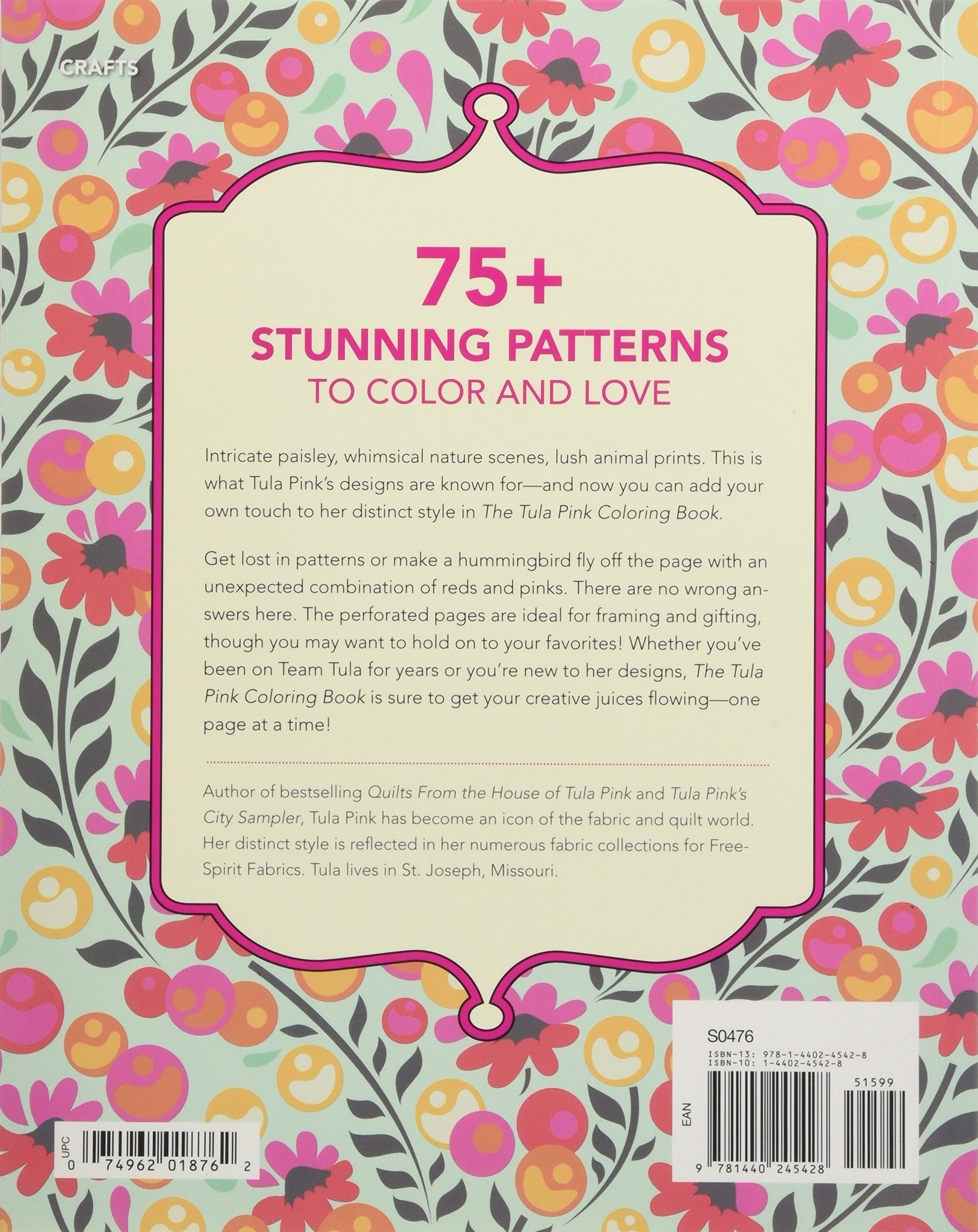 Amazon The Tula Pink Coloring Book 75 Signature Designs In Fanciful Pages 9781440245428 Books