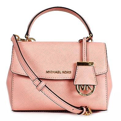 b3fc48c1a38da6 Amazon.com: Michael Kors Pale Pink Ava Extra Small Saffiano Leather  Crossbody Bag: Shoes