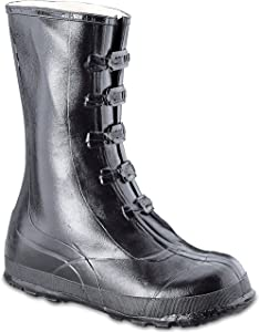 Honeywell Safety A351-12 Servus Rubber Hi Overshoe with 5-Buckle, Size-12, Black