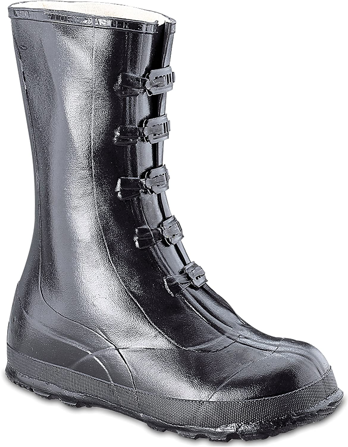 Honeywell Safety A351-9 Servus Rubber Hi Overshoe with 5-Buckle, Size-9, Black