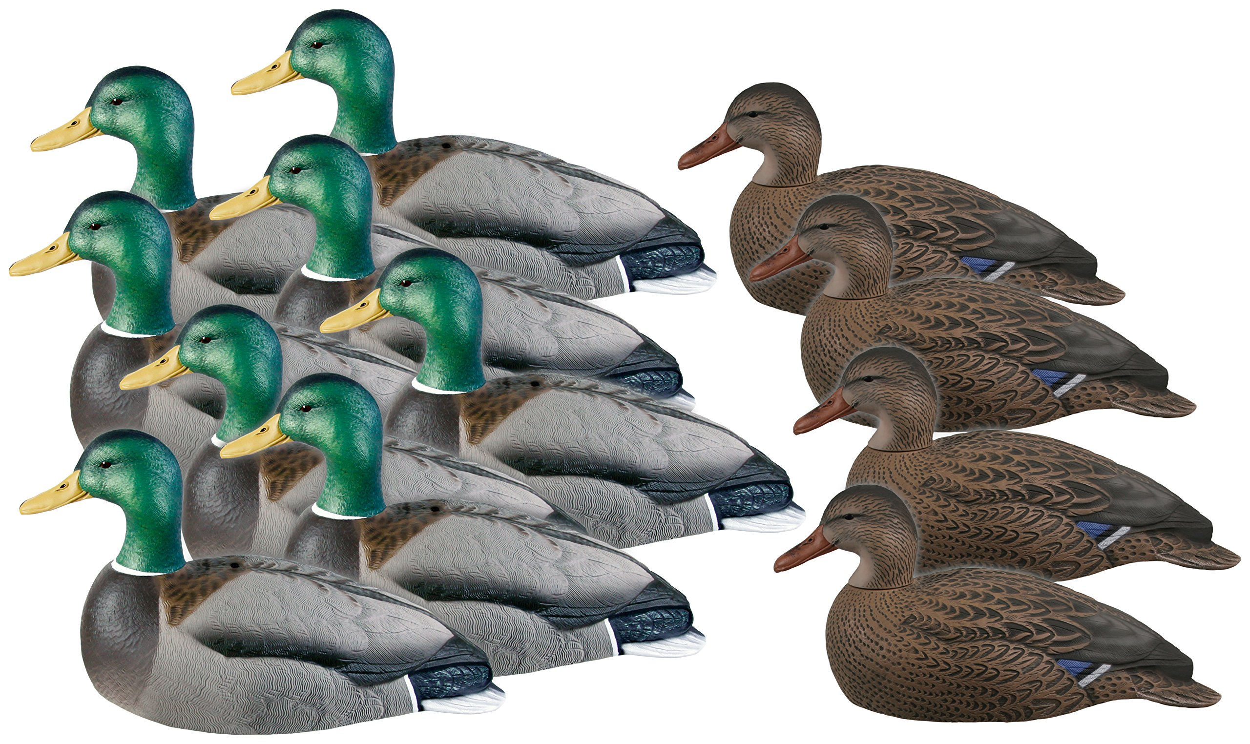 Avery GHG Over-Sized Mallard Shells with Motion Stakes - Dozen-Harvesters, AV-70167 by GreenHead Gear (Image #1)