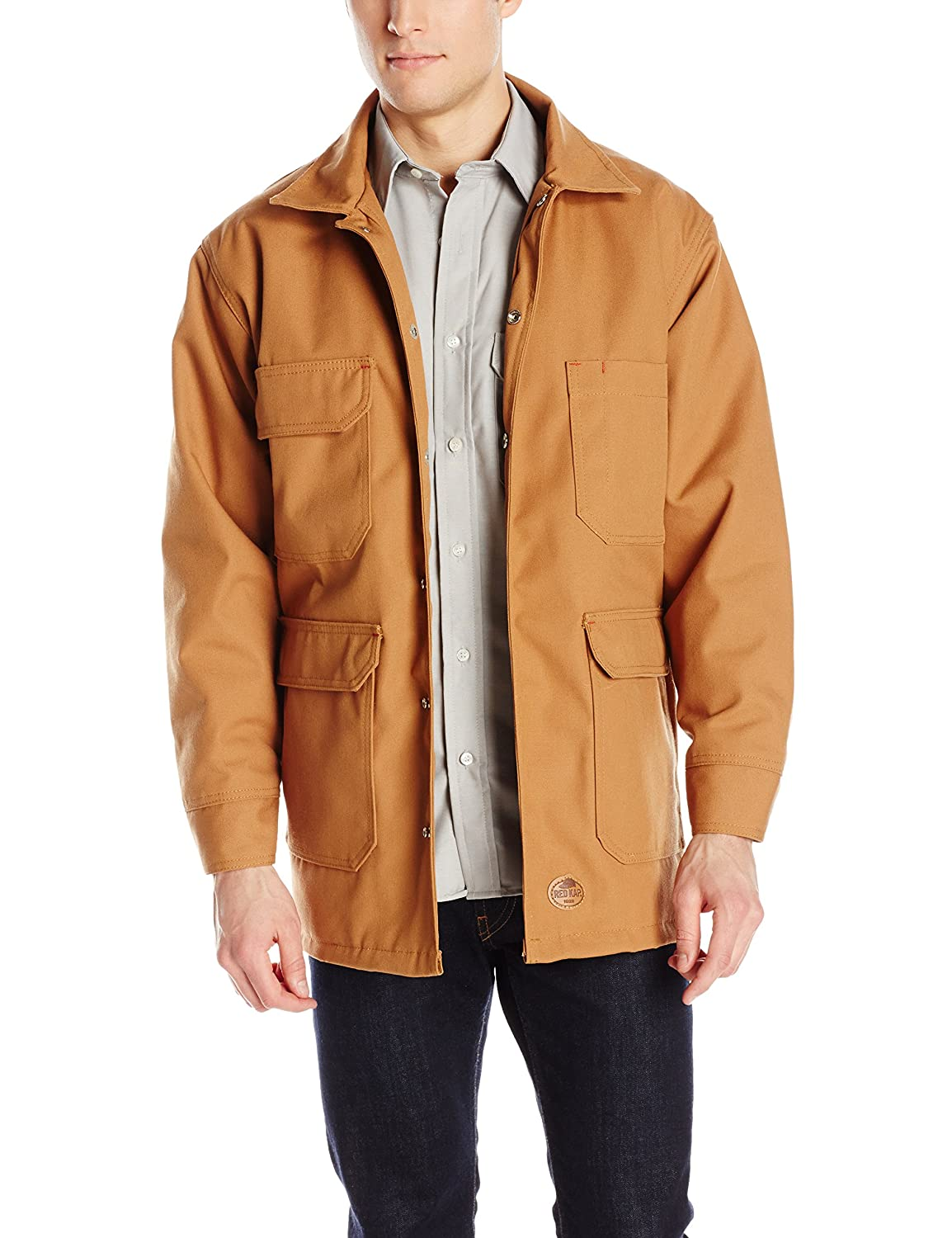 ee7a43ae1 Brown Duck Duck Duck Red Kap Men's Blended Duck Chore Coat ade599 ...