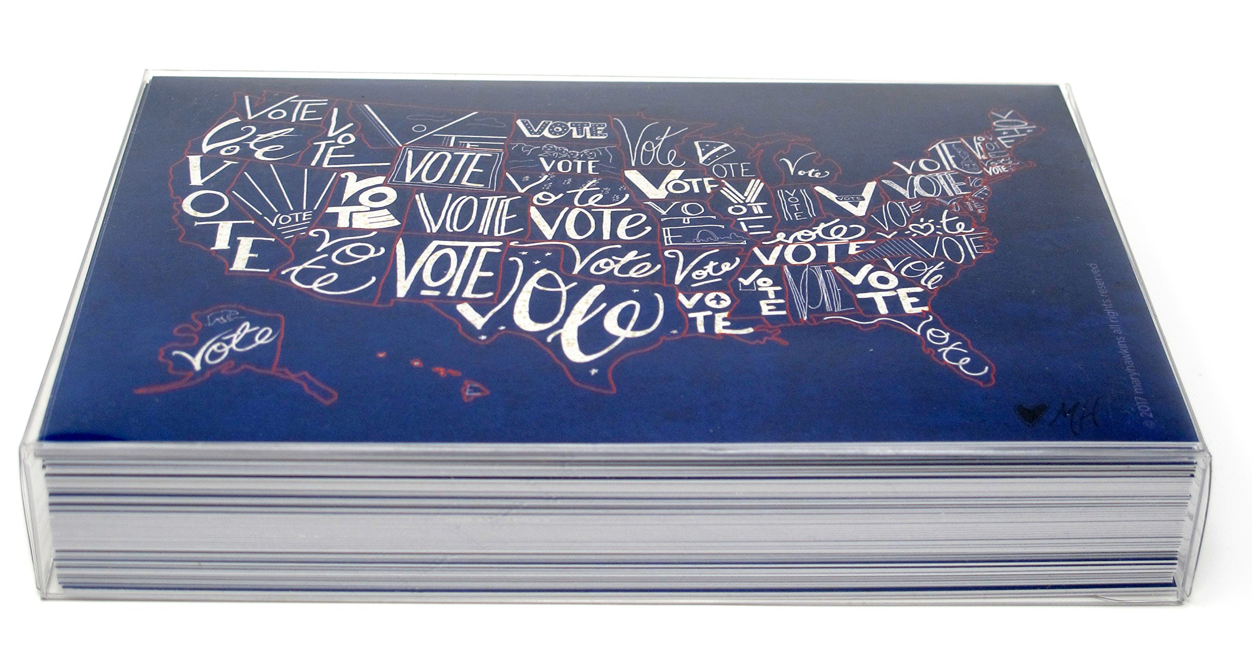 ''Vote USA'' postcards. Postcards with a map of the United States, perfect for writing politicians or get-out-the-vote campaigns (60) by Mary Likes Postcards (Image #3)