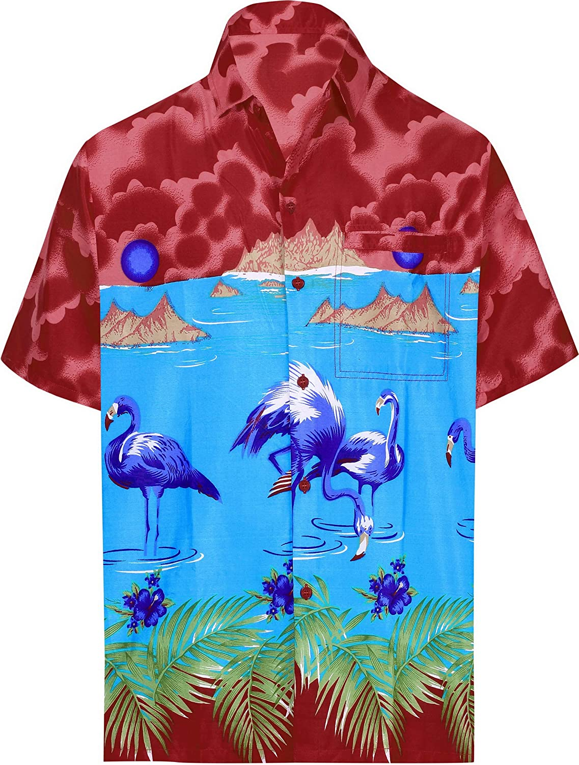 La Leela Men S Designer Fashion Short Sleeve Hawaiian Shirt At Amazon Men S Clothing Store