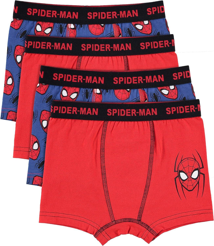 Spider-Man Boys Boxers Pack of 4 Kids Underwear