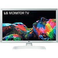 """LG 24TL510S-WZ - Monitor Smart TV de 61cm (24"""") con Pantalla LED HD (1366x768, 16:9, DVB-T2/C/S2, WiFi, Miracast, USB Grabador, 10 W, 2xHDMI 1.4, 1xUSB 2.0, Óptica) Color Blanco"""