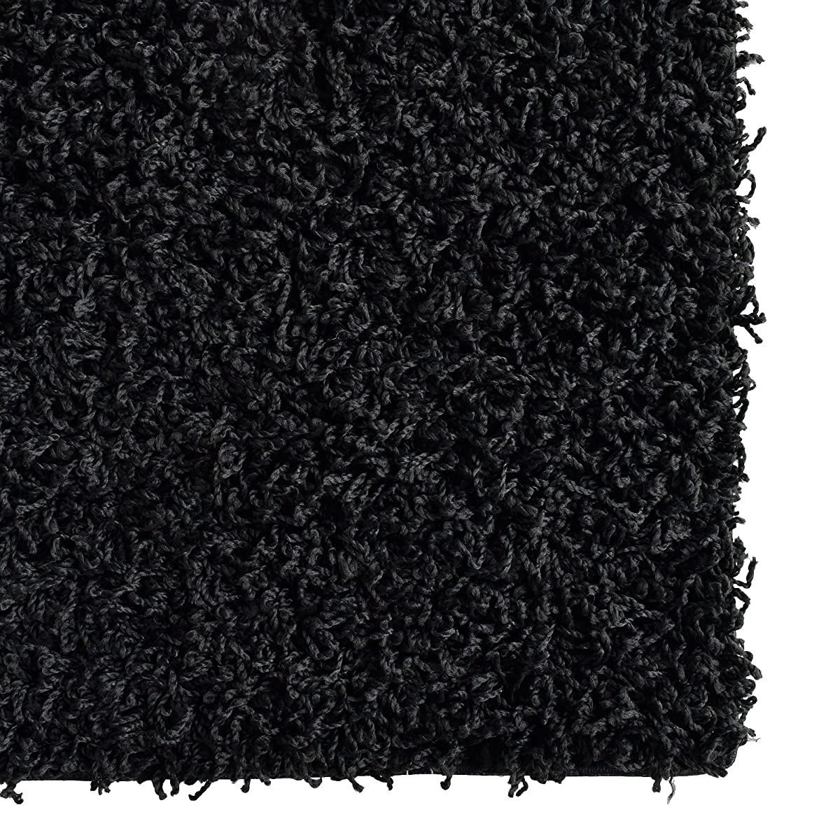 iCustomRug Dixie Cozy Soft And Plush Pile, 5ft0in x 7ft0in (5X7) Shag Area Rug In Black
