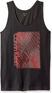 Calvin Klein Mens Printed Mesh Tank Top