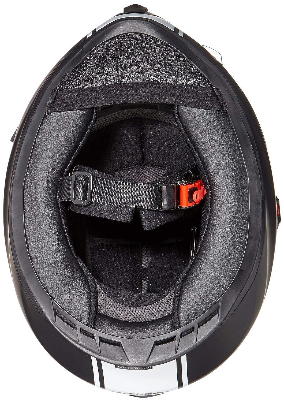 MOTO X86 Racing Matt White /· Sport Urbano Moto motocicleta Fullface-Helmet Urban Scooter Cruiser Casco Integrale /· ECE certificado /· visera incluido /· incluyendo bolsa de casco /· Blanco /· XS 53-54cm