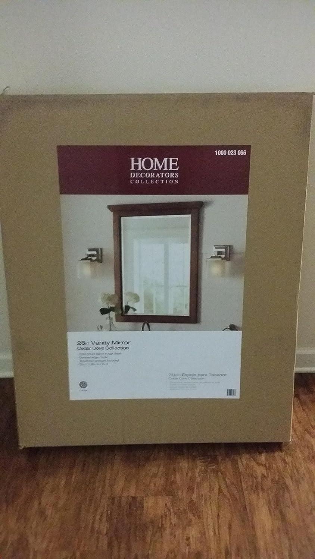 Amazon Com Cedar Cove 35 In L X 28 In W Framed Wall Mirror In Oak Home Kitchen