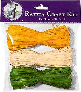 Super Moss (40512) Raffia Craft Kit - Spring, Breeze (Golden, Natural, Basil), 16 cu in. (3 Pack)