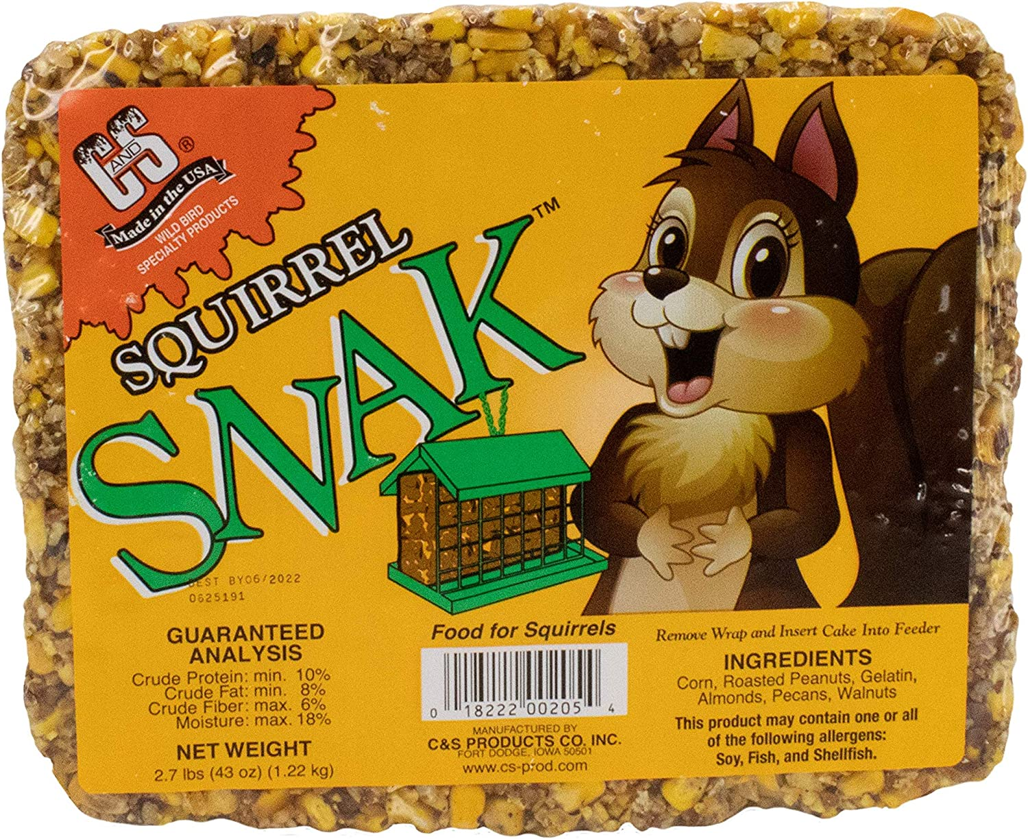 C & S Products Squirrel Snak, 6-Piece