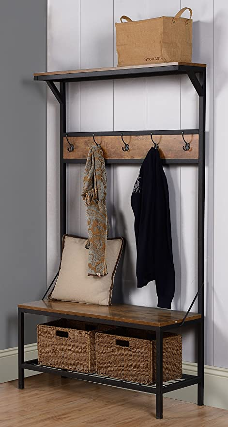 Amazon.com: Homestar mueble con 3 estantes, 39 pulgadas x ...