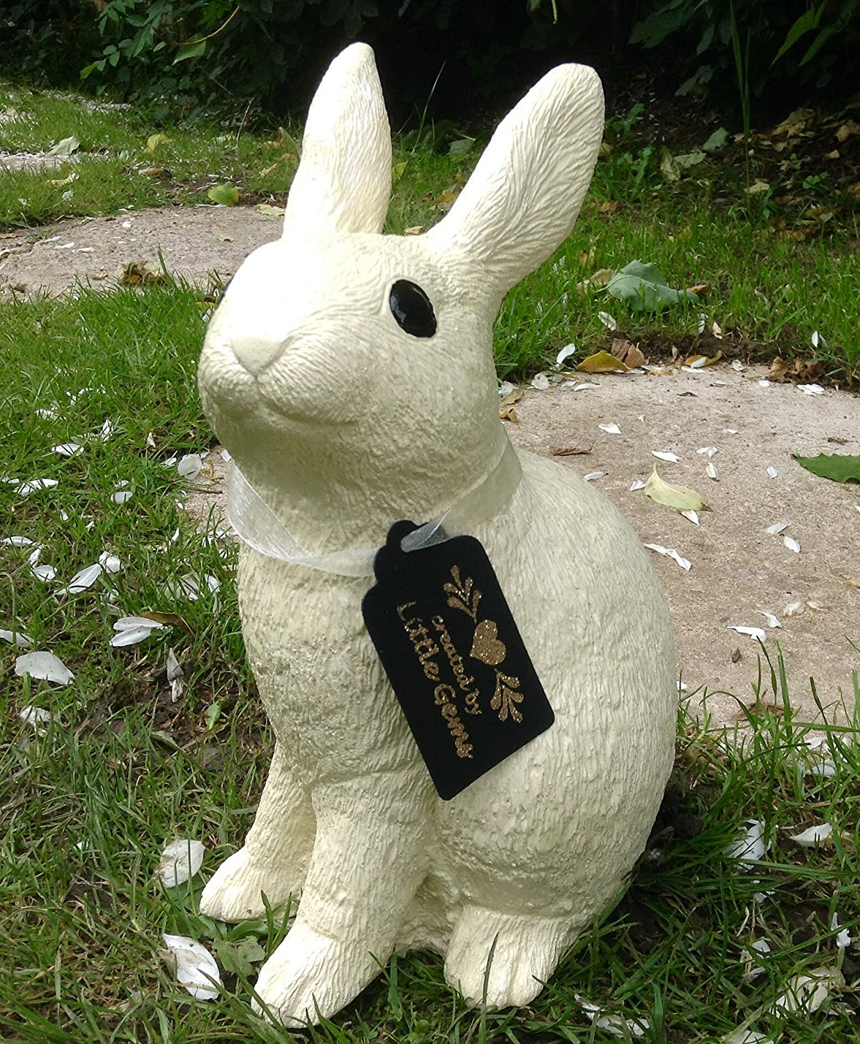 Stone Rabbit Bunny Statue Ornament Garden And Home Gift
