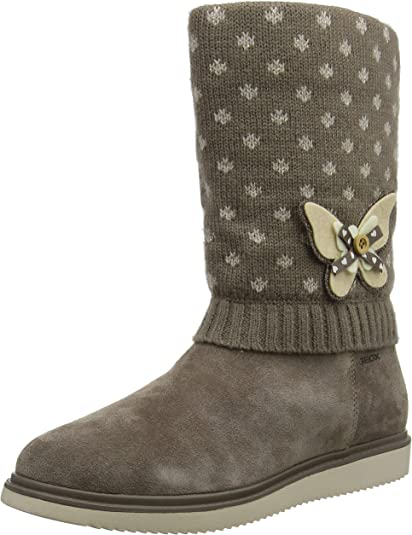 Geox J Thymar A, Bottes Hautes Fille: : Chaussures
