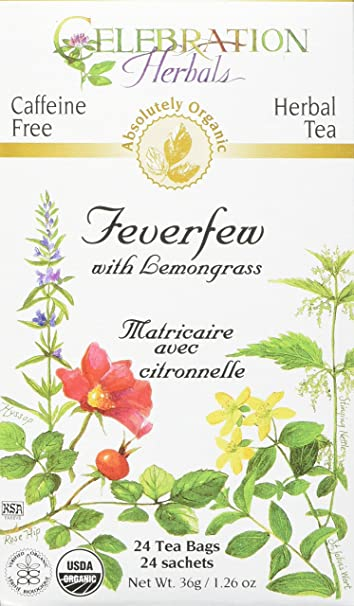 Image result for Celebration Herbals Herbal Tea Feverfew and Lemongrass - 24 bags