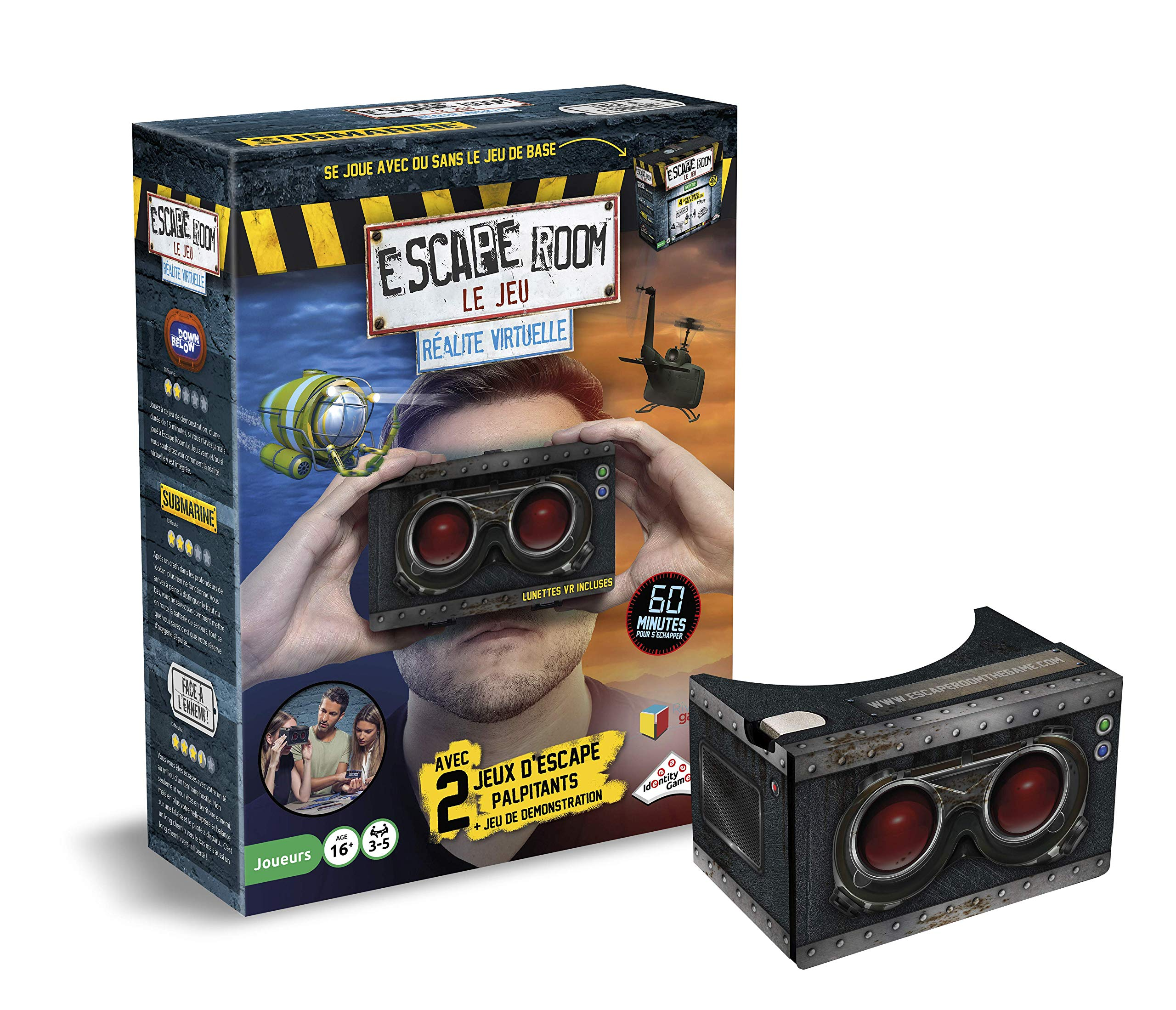 Identity Games Escape Games 5080 Set of 2 Virtual Realite Games French Version