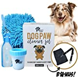 Dog Paw Washer - Paw Cleaner for Dogs, Dog Water Bottle for Walking, Dog Seatbelt Leash