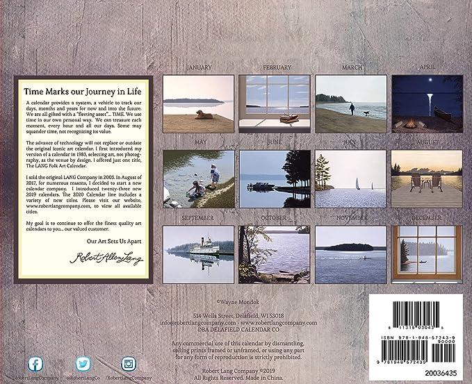 Cuny Calendar Fall 2020.2020 At The Water S Edge Wall Calendar 1st Edition
